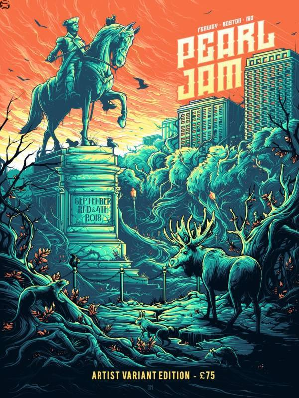 Dan Mumford - Pearl Jam Boston 18 - Orange Sky Edition
