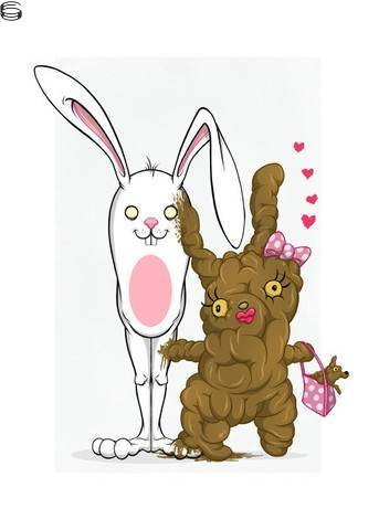 Bunnywith Girlfriend Made of Shit (And Her Shit'Zu)